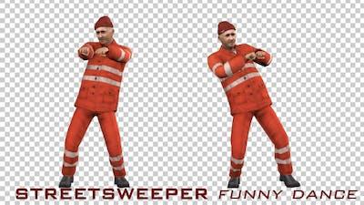 Sweeper Guy Funny Dance