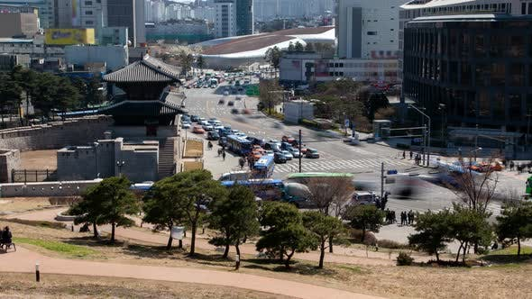 Timelapse Seoul Heunginjimun and Dongdaemun Design Plaza