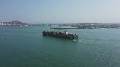 The Cargo Ship Aerial View