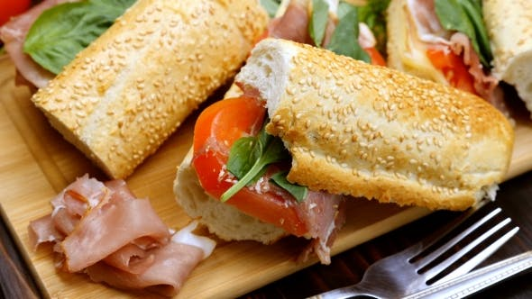 Healthy Homemade Sandwiches on a Table