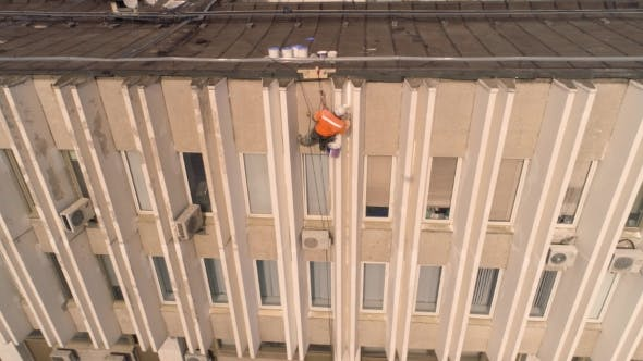 Thumbnail for Puttying and Painting the Facade of the Building Aerial Survey
