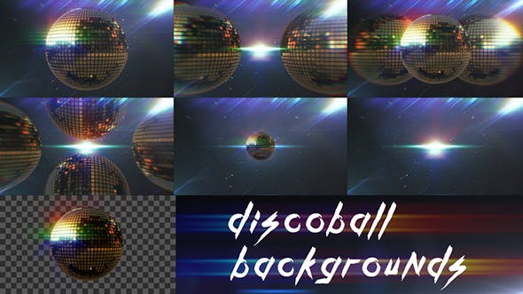 Thumbnail for Disco Ball Backgrounds | 7 items pack