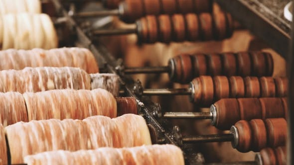 Trdelnik or Trdlo Is a Traditional Delicacy Found in a Number of Countries in Central Europe