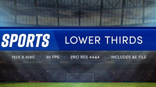 Thumbnail for Sports Lower Thirds