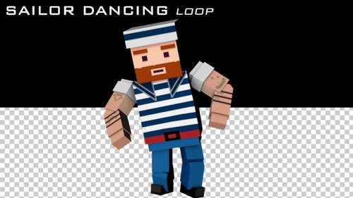 Cartoon Sailor Dancing