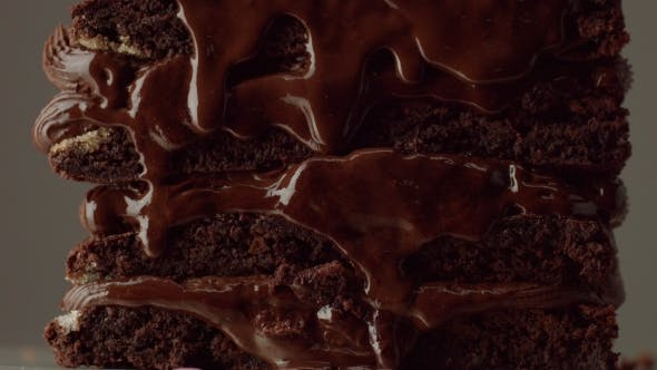 Thumbnail for Chocolate Cake with Chocolte Cream with Different Texture