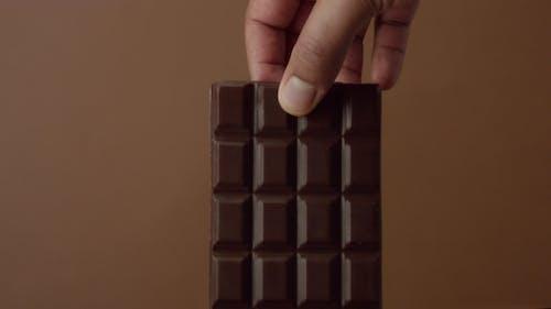 Black Chocolate Bar  Soaked in Liquid Chocolate