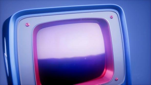 Thumbnail for Retro TV on Blue Sky Background