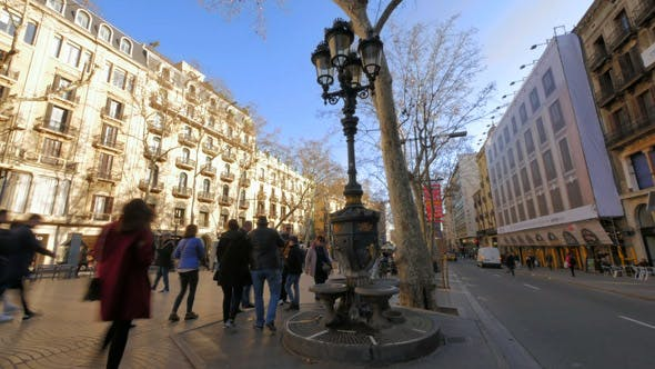 Thumbnail for Canaletes Fountain in Barcelona Famous Tourist Spot