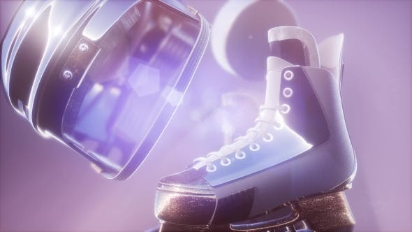 Thumbnail for Flying Hockey Puck and Hockey Equipment