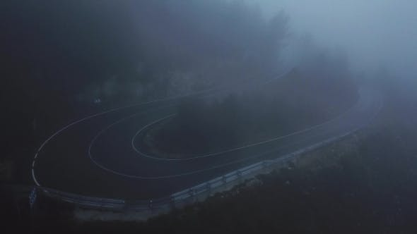 Thumbnail for Mystical Views of the Road in Dense Fog in the Mountains of the Iberian Peninsula