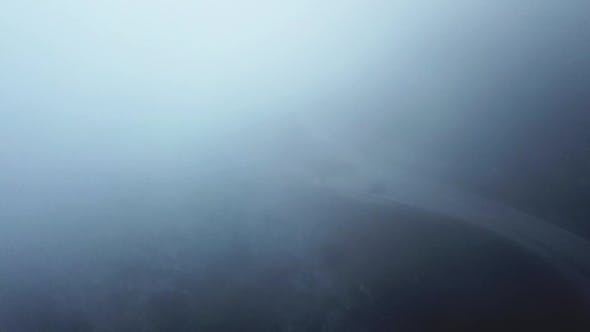 Cover Image for Mystical Views of the Road in Dense Fog in the Mountains of the Iberian Peninsula