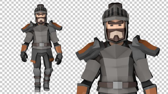 Thumbnail for Low Poly Knight Walk