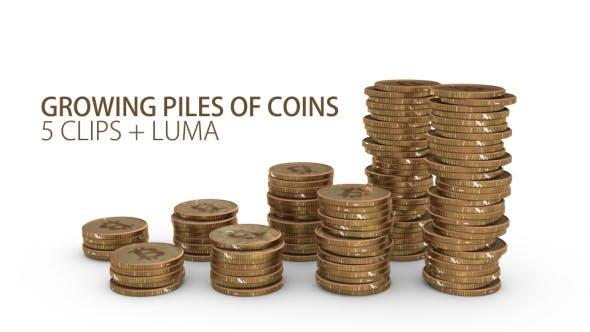 Thumbnail for Wachsende und fallende Haufen von Münzen