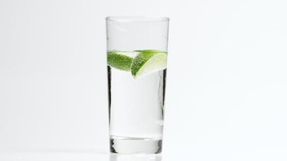Lim in Drinking Glass