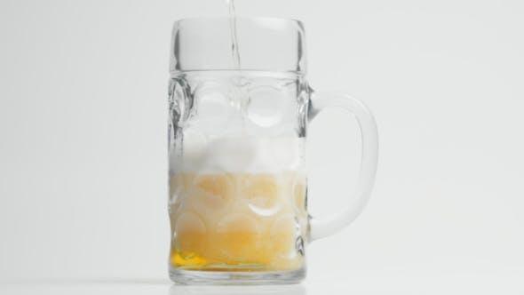 Foaming Beer in Stein