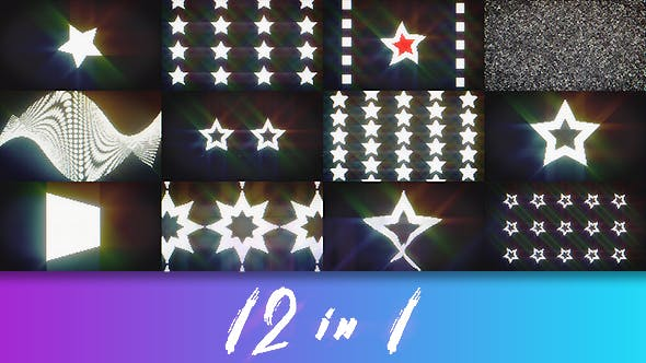 Thumbnail for 12 Led Lights Loops Backgrounds Pack