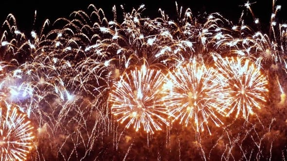Cover Image for Colorful Fireworks Exploding in the Night Sky. Celebrations and Events in Bright Colors.