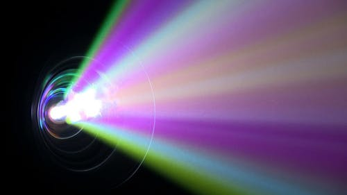 Digital Video Projector Lens Colorful Bright Rays
