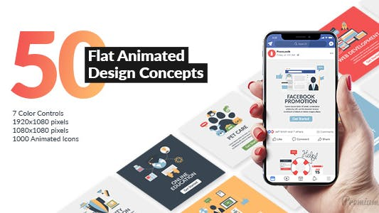 Thumbnail for Flat Animated Design Concepts