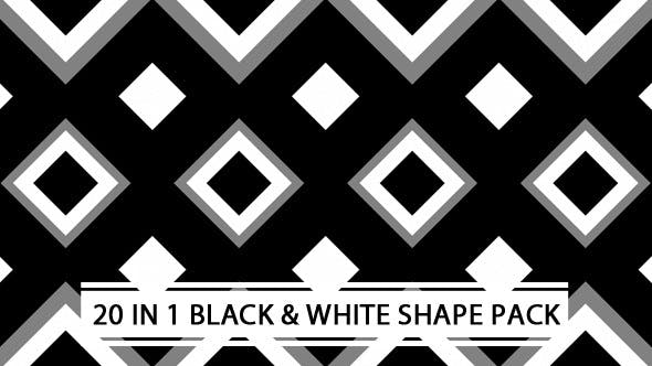 Thumbnail for Black And White Shape Pack