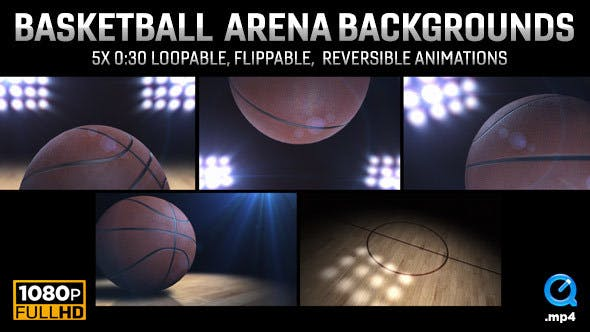 Thumbnail for College Basketball Arena Backgrounds | 5-Pack (HD)