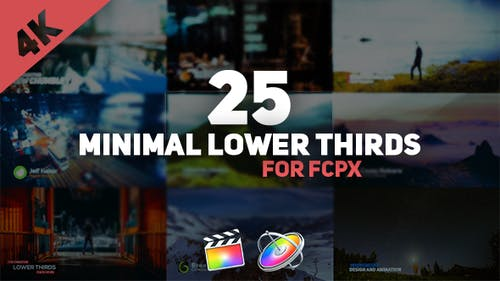 FCPX Minimal Lower Thirds Pack
