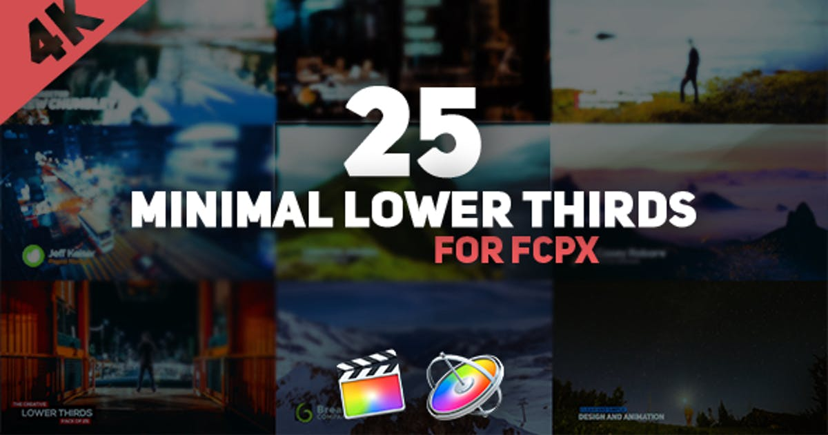 Download FCPX Minimal Lower Thirds Pack by afteryou