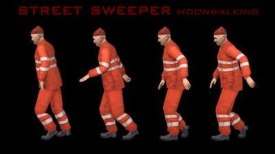 Street Sweeper Moonwalking