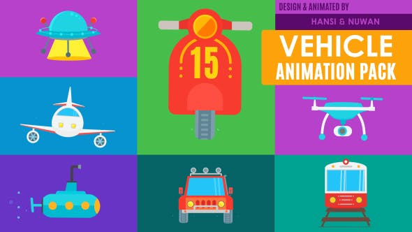 Thumbnail for 15 Truly Animated Vehicle Icons Pack