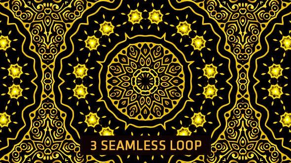Gold Pattern Kaleido 3 in 1