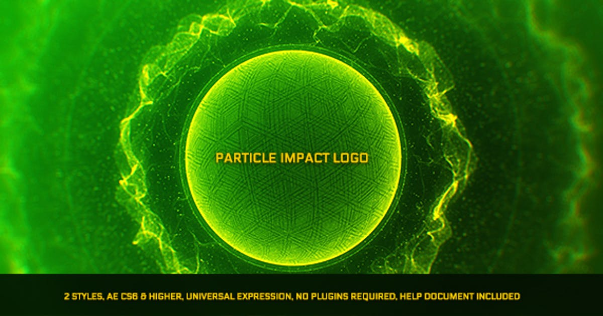 Download Particle Impact Logo by santoshw7885