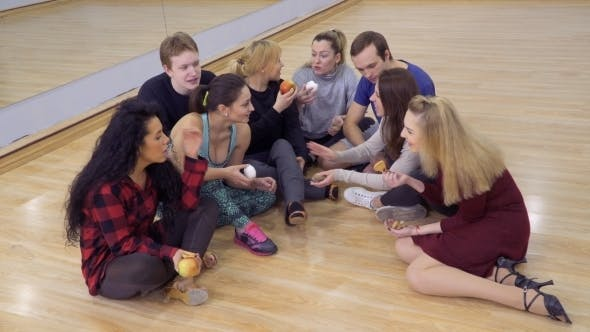 Thumbnail for Group of Young People Shares Their Food with Their Friend