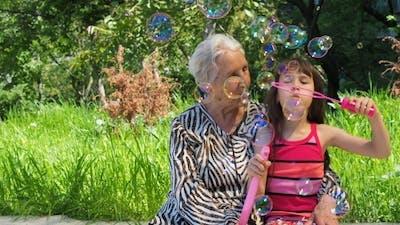 Grandma with a Granddaughter.