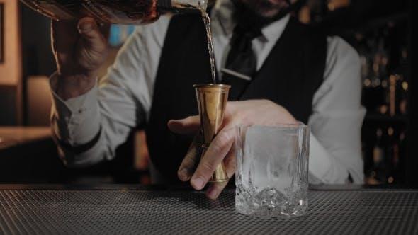 Endless Loop Cinemagraph of Cocktail Preparation