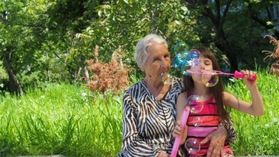 Grandma with a Granddaughter