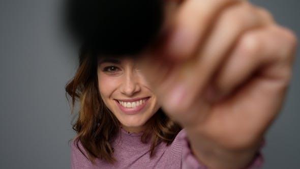 Thumbnail for Woman Using Make-up Brush