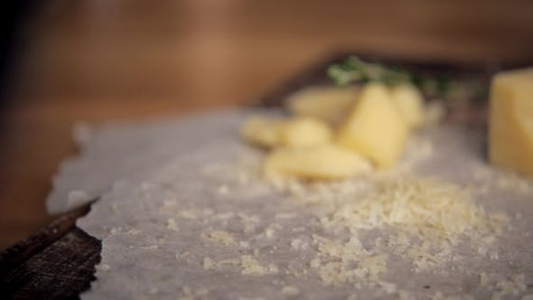Thumbnail for Block of Cheese  on Vintage Wooden Background
