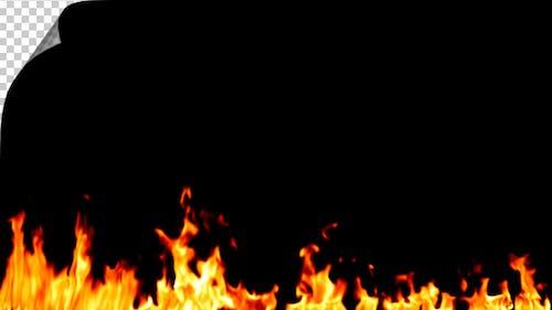 Realistic Fire Line in Slow Motion - Alpha Channel