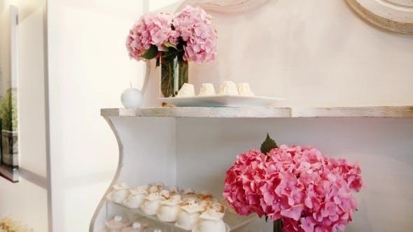 White Candy Bar Wedding, Candy Buffet