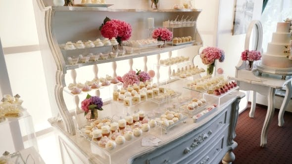 Thumbnail for White Candy Bar Wedding, Candy Buffet