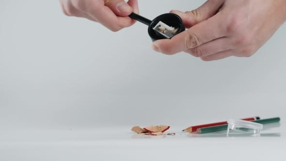 Thumbnail for Wooden Colorful Pencils with Sharpening Shavings, on White Background  Studio