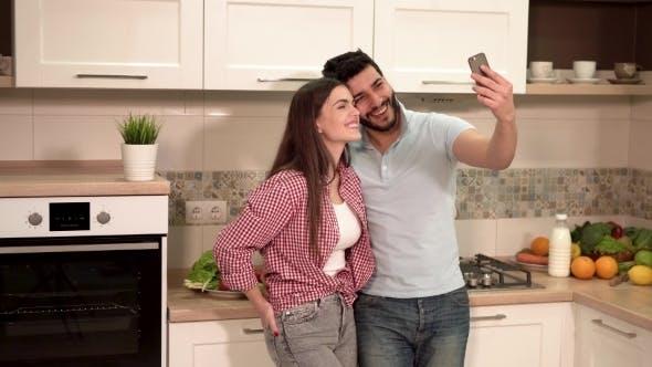 Thumbnail for Beautiful Couple Takes Selfie