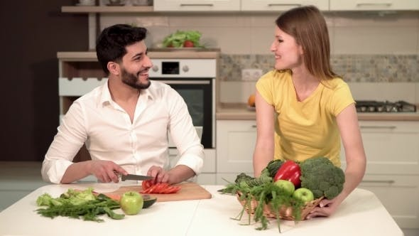Thumbnail for Couple Cooks Healthy Meal