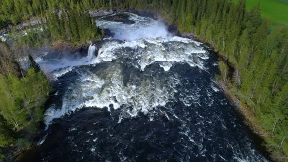 Cover Image for Ristafallet Waterfall in the Western Part of Jamtland