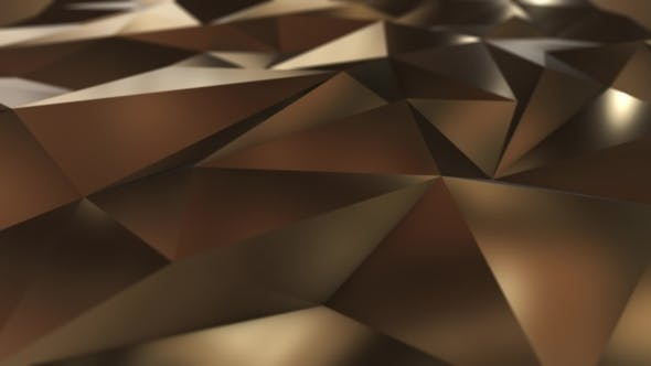 Thumbnail for Gold Abstract Low Poly Triangle Field
