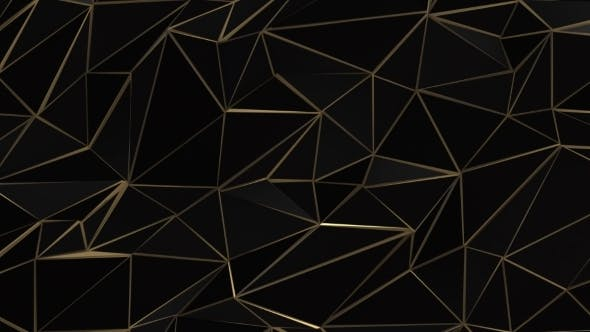 Thumbnail for Black and Gold Abstract Low Poly Triangle Field