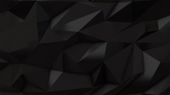 Thumbnail for Black Abstract Low Poly Triangle Background