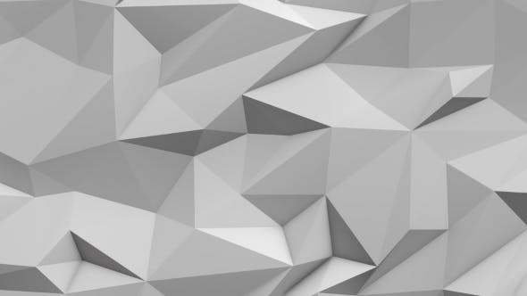 Thumbnail for White Abstract Low Poly Triangle Background