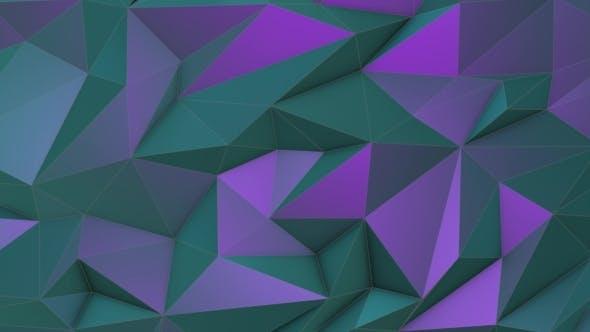 Thumbnail for Türkis-violette Schönheit Low Poly Dreieck Hintergrund